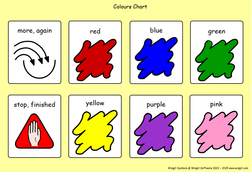 Symbol charts for creative play