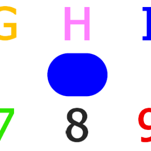 Alphabets you can eye point to